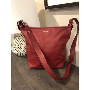 Coach legacy handbag red